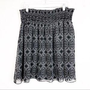 White House Blackmarket Tribal Print Lined Skirt